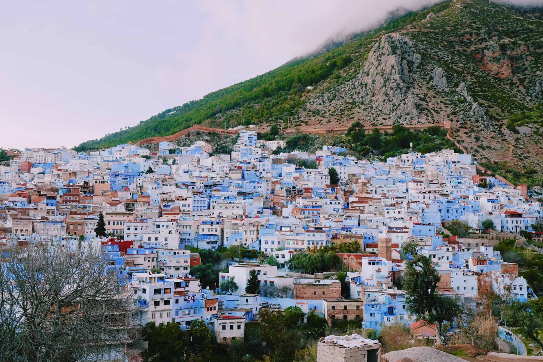 Vue sur Chefchaouen, la ville bleue - Maroc