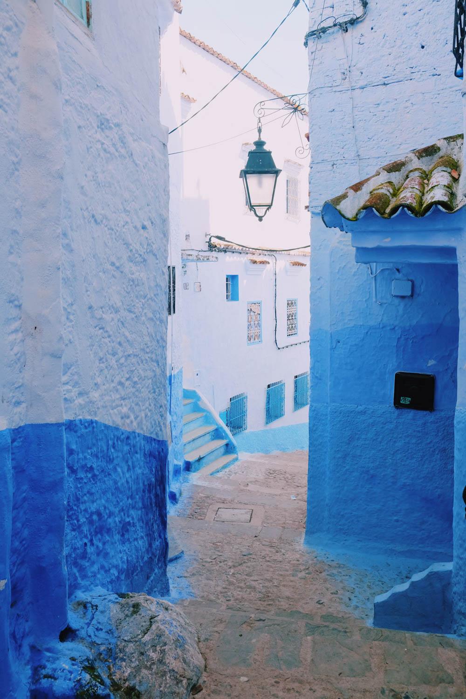 Rue de Chefchaouen, la ville bleue - Maroc