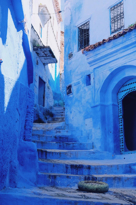 Rue de Chefchaouen, la ciudad azul-Marruecos