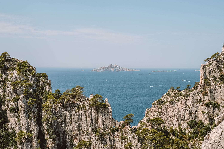 Vue depuis les Calanques de Marseille